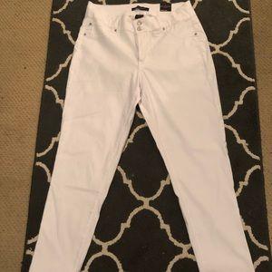 Plus Size Ashley Stewart White Jeans